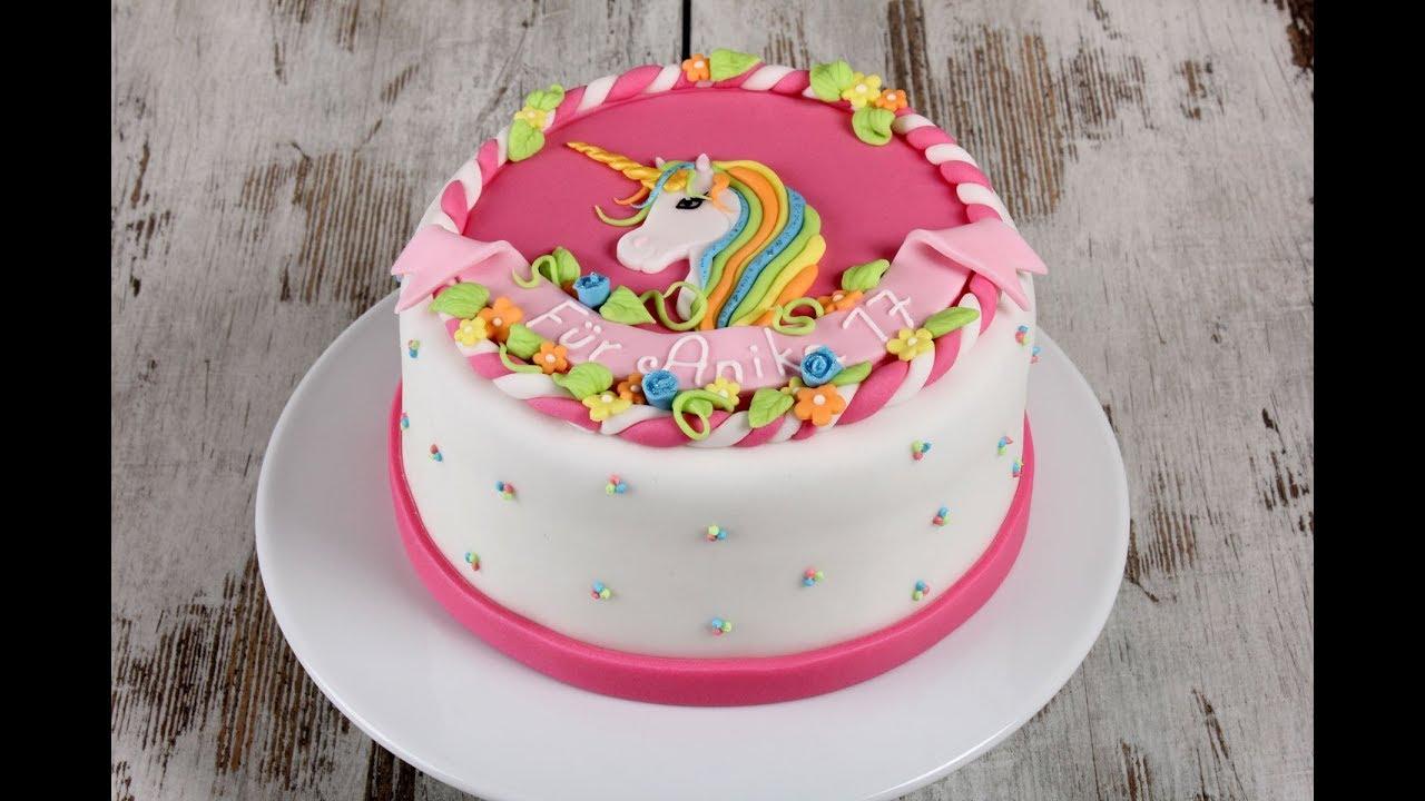 Entstehung einer Einhorn Torte Cake Tutorial Unicorn
