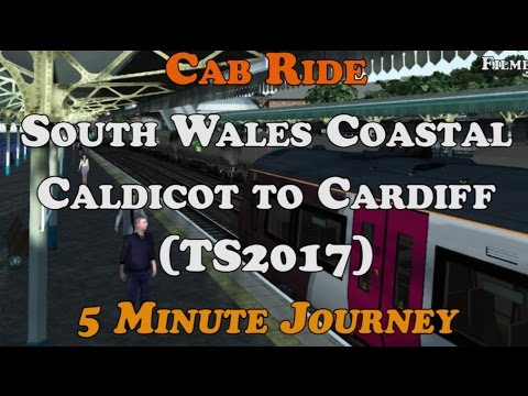 Cab Ride - South Wales Coastal - Caldicot to Cardiff (TS2017) 5 Minute Journey!