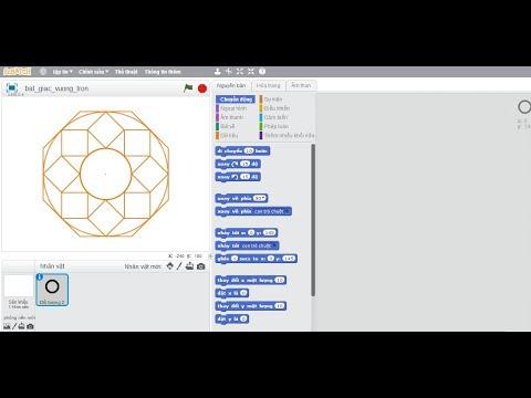 Lập trình Scratch – Vẽ và trang trí bát giác từ hình vuông, hình tròn, hình thoi