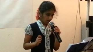 Diya sara singing Adiva katte