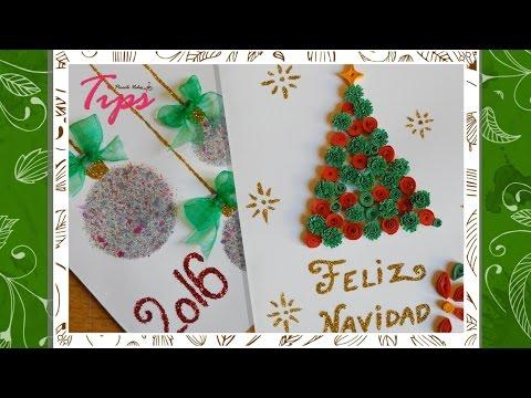Tarjetas navide as diy manualidades de navidad - Manualidades tarjeta navidena ...
