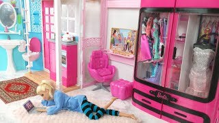 Barbie Bedroom House Morning Routine Barbie Scooter Puppyدمية باربي البيت غرفة نومBarbie Quarto Casa