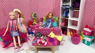 Jojo and Stacie Dolls SLEEPOVER!!
