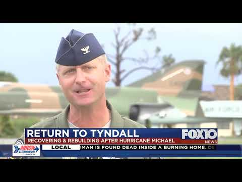 Recovery and rebuilding at Tyndall Air Force Base following Hurricane Michael