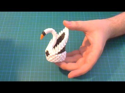 3D Origami small swan tutorial | DIY paper small swan