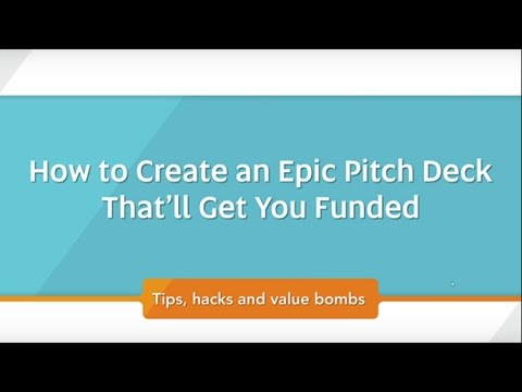how to write a pitch deck