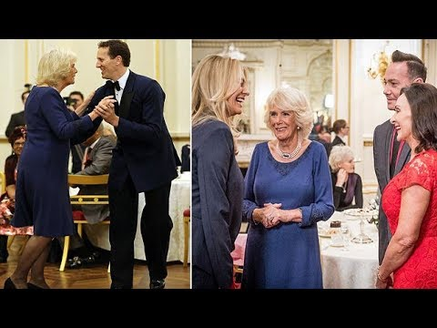 Camilla dance and welcomes stars of Strictly to Buckingham Palace