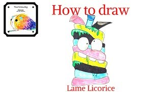 How to draw lame licorice, a speed drawing tutorial