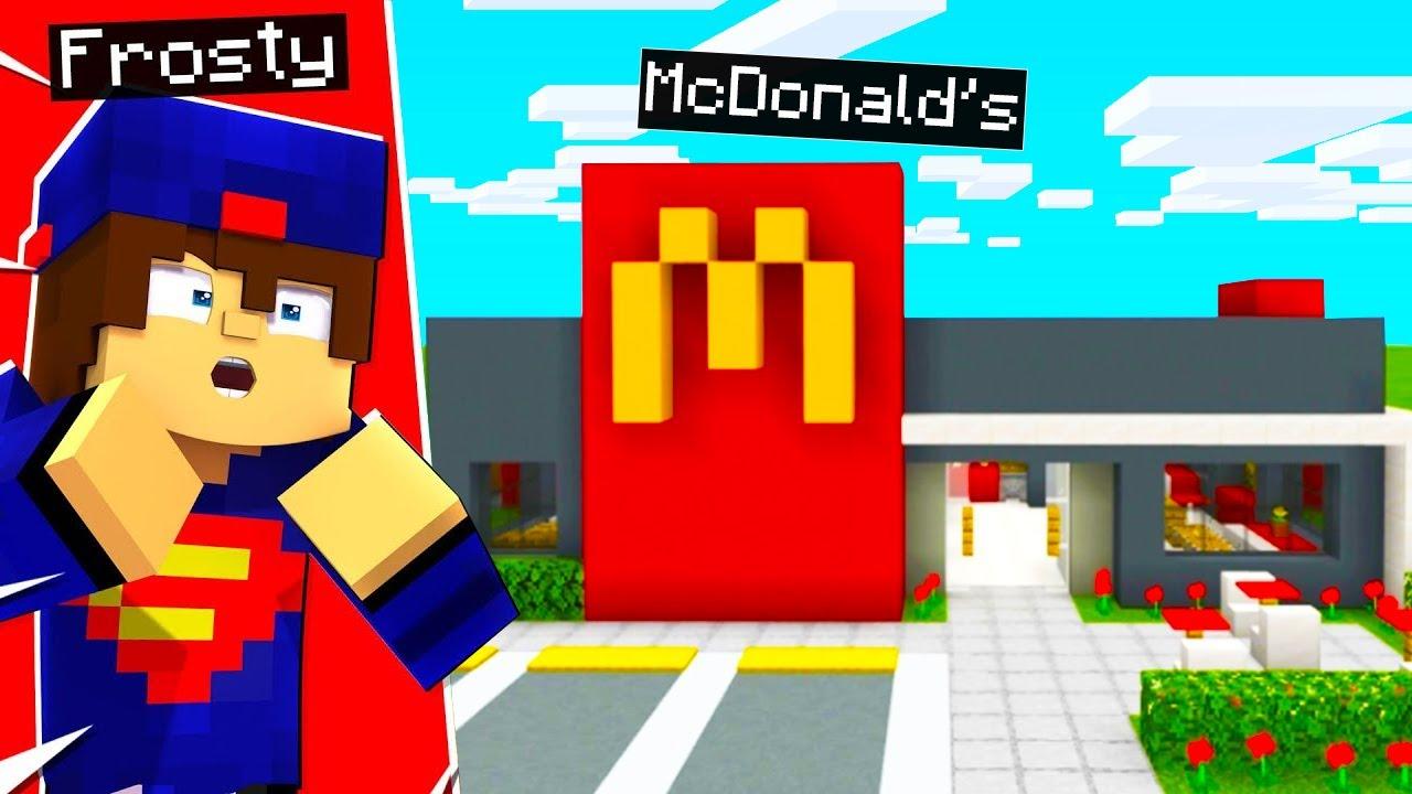 I BUILT A McDONALD'S IN MINECRAFT