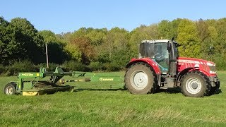 Mowing for Silage with Massey Ferguson 7718 & Krone - Silage 2018