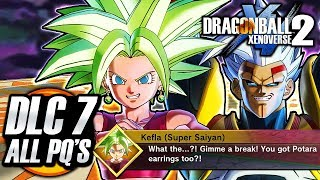 ALL DLC PACK 7 PARALLEL QUESTS - Dragon Ball Xenoverse 2 Kefla English Dub Dialogue Story Gameplay