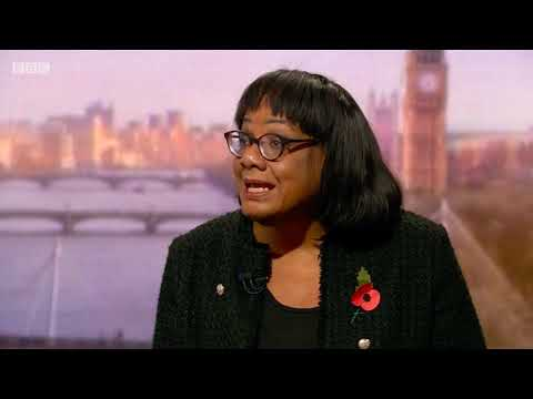 Shadow Home Secretary Diane Abbott on The Andrew Marr Show
