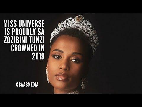 Congratulations to Miss Universe South African Zozibini Tunzi (Vertical Video) | @baabmedia