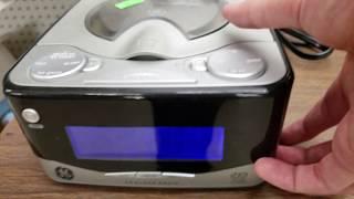 GE 7-4801A CD Clock Radio