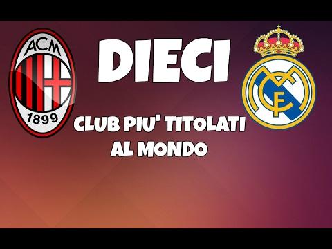I 10 CLUB PIU' TITOLATI AL MONDO