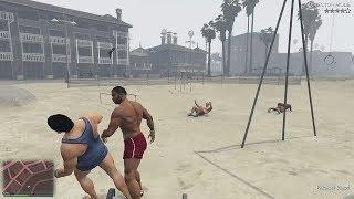 GTA 5 FIGHTING A BODYBUILDER