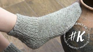 видео Как вязать носки на 2 спицах