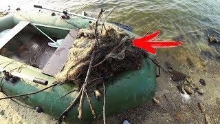 Рыбалка в августе  ОЧЕНЬ УДАЧНО ЗАЦЕПИЛИ СЕТКУ И НАШЛИ МНОГО ДОБРА !!!(ЧАСТЬ 2)