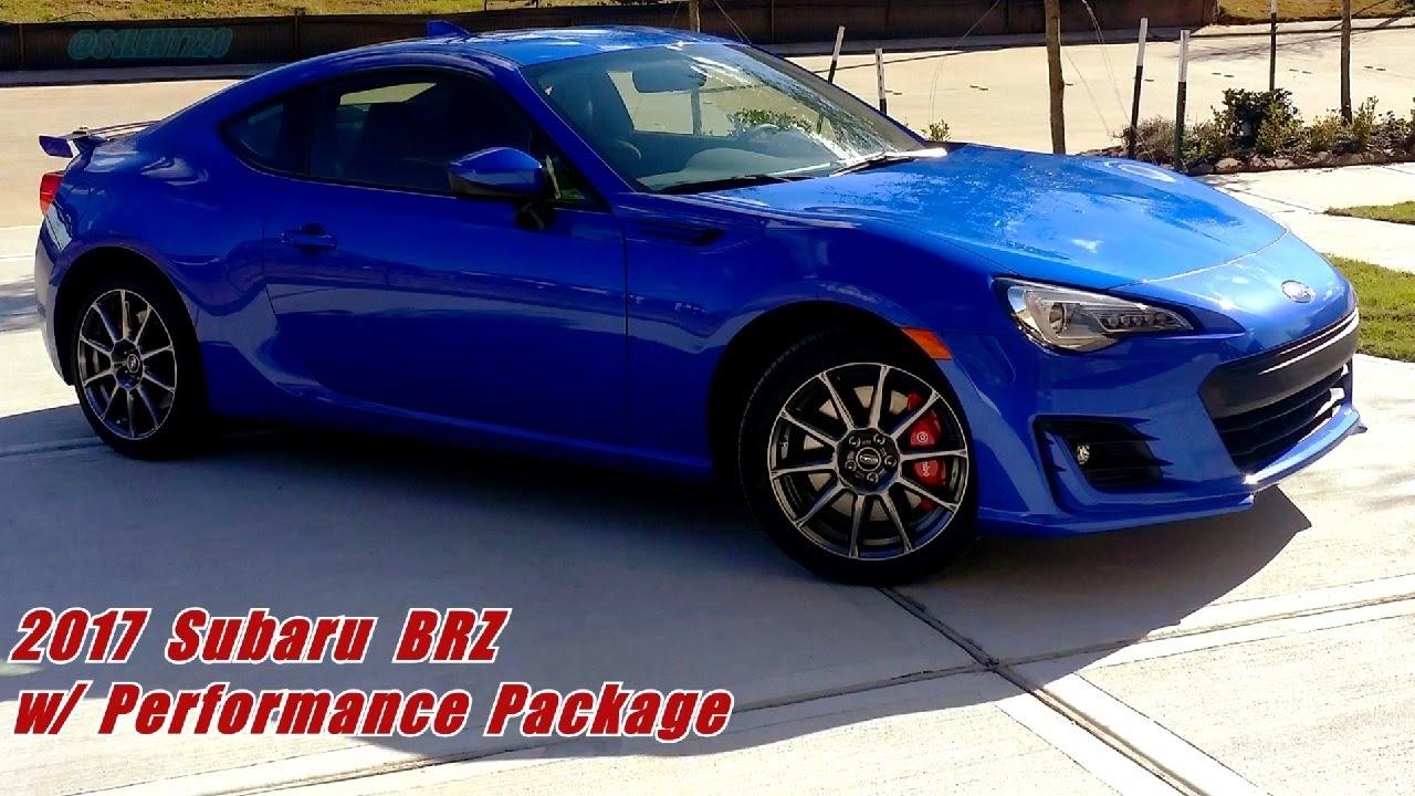 2017 Subaru Brz With Performance Package Start Up And Walkaround