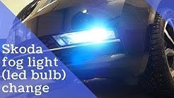 Skoda fog light (led bulb) change