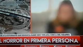 Habla la joven que fue violada en el estadio Mario Kempes, en Noticiero Doce