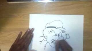 How To Draw Popeye