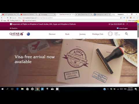 Easiest Visa to Qatar for Everyone without Sponsor from Home and check status of visa online