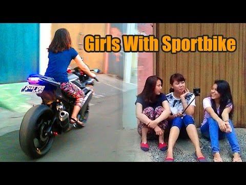 Cewek cewek  naik sportbike | Guntur Wibowo's MotoVlog |