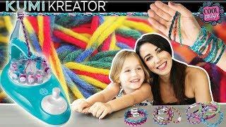 On réalise des bracelets grace à la fabrique à Bracelets de l'amitié KUMI KREATOR Only 4 girls ! DIY