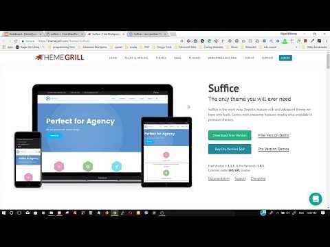 Suffice WordPress Theme - Free Demo Import | Full Tutorial