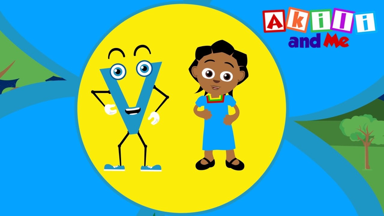 The Letter V Song   Educational phonics song from Akili and Me, African Animation!