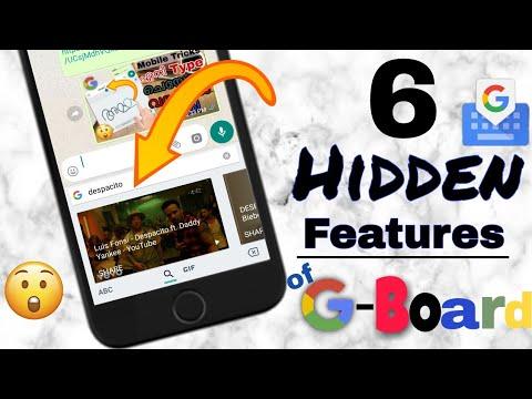 6 HIDDEN FEATURES OF GOOGLE G-BOARD 😲 !!! G-BOARD BY GOOGLE APP