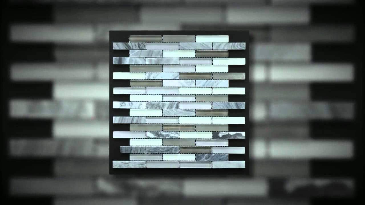 Bathroom Wall Tile Gris Claro With Miami Grey Mix Mosaic