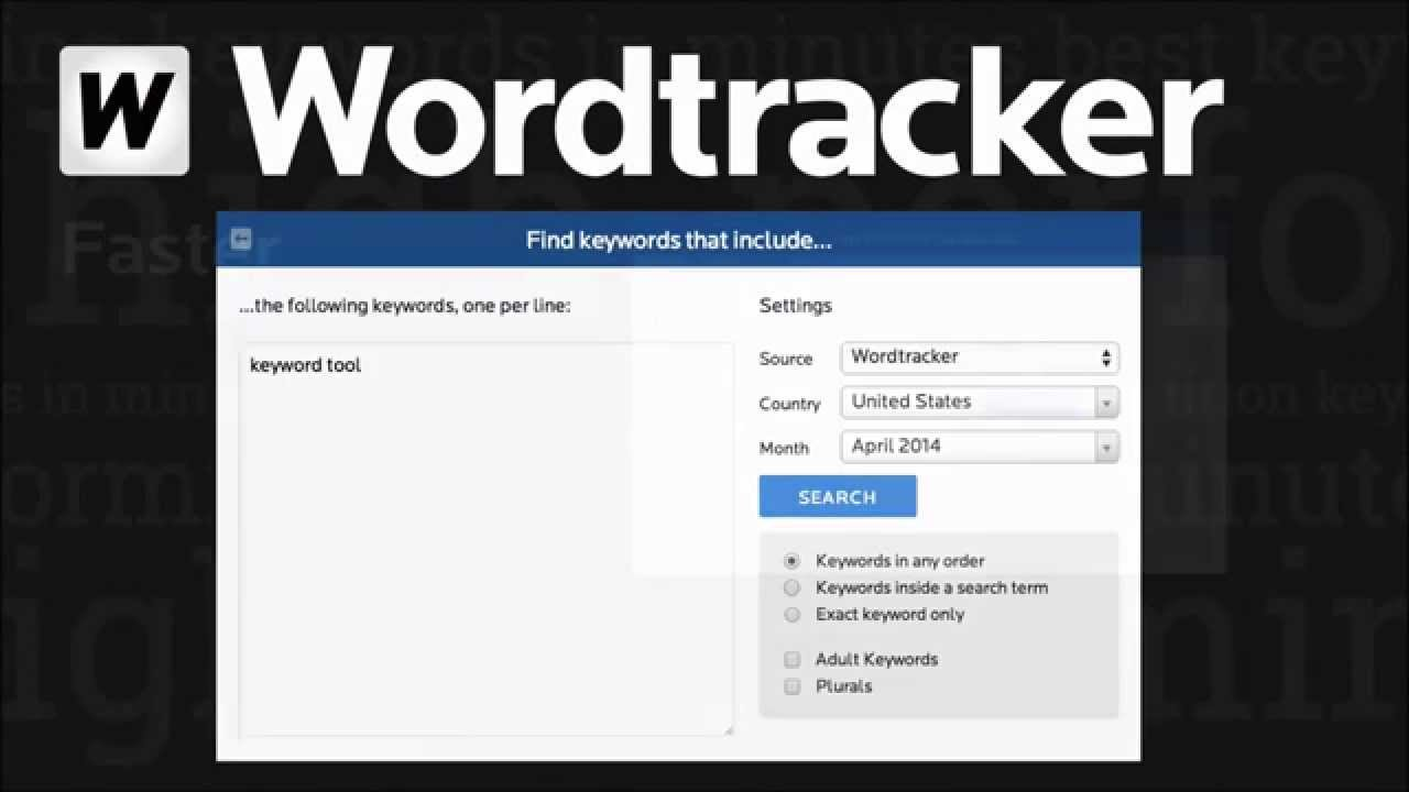 Wordtracker Keyword Tool Youtube