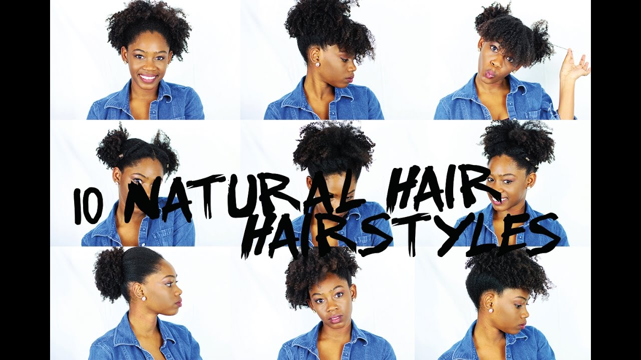 10 quick natural hairstyles for shortmedium natural hair youtube 10 quick natural hairstyles for shortmedium natural hair urmus Image collections