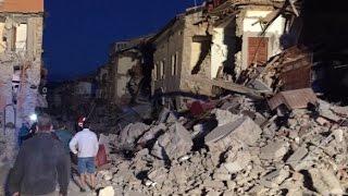Землетрясение Италия Видео с камеры