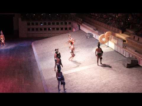 Mayan ball game (part 2) - Xcaret Mexico Espectacular show [excerpt]