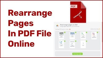 How To Rearrange Pages In PDF File Online Using  PDF Candy