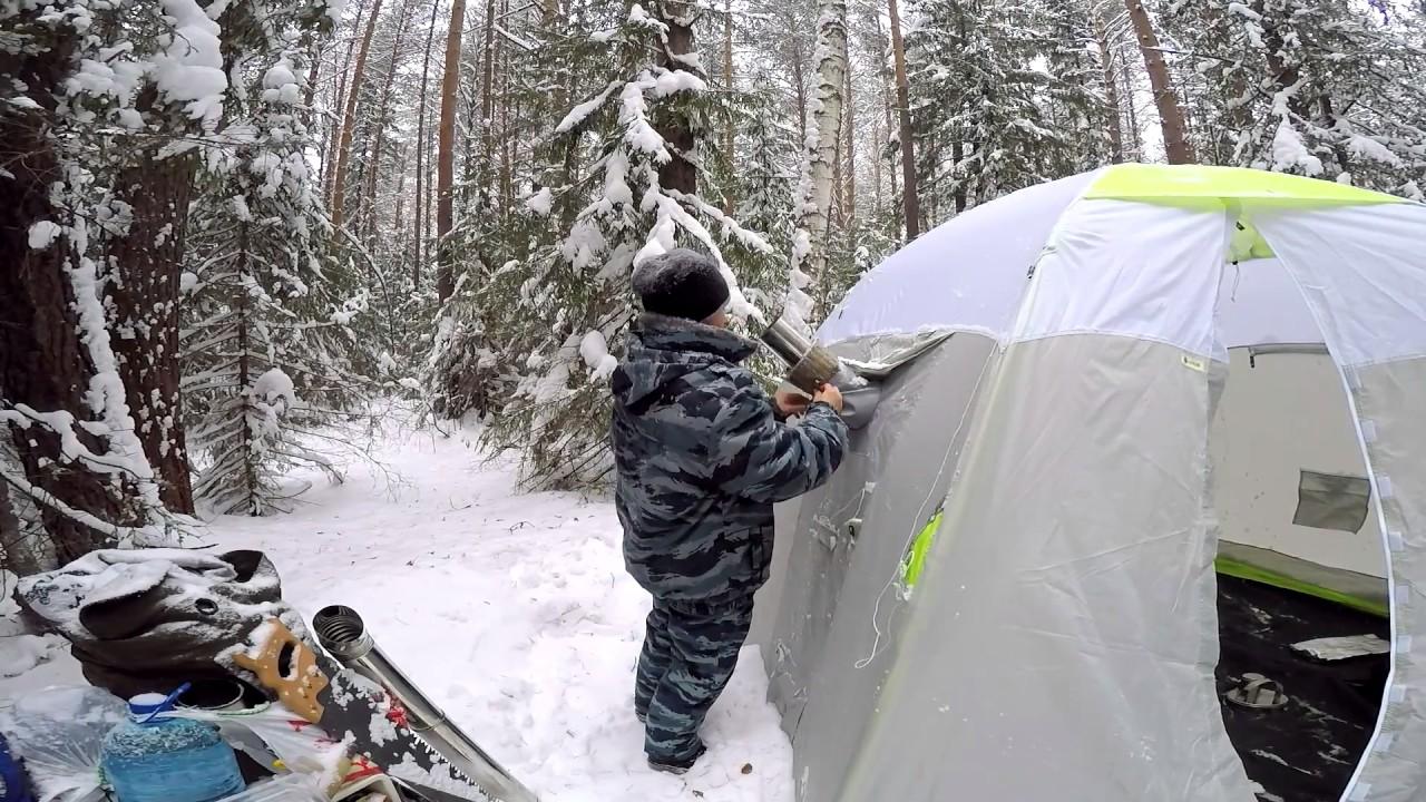 Жизнь в лесу! (палатка Лотос 5 Универсал Баня)