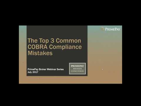 The Top 3 Common COBRA Compliance Mistakes