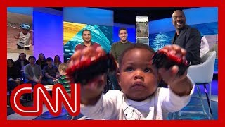 CNN's Van Jones meets viral hugging toddlers