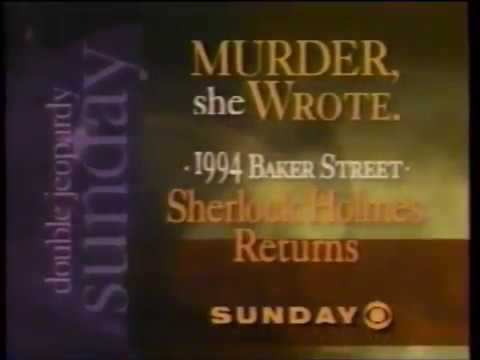 CBS Double Jeopardy Sunday  - Murder She Wrote  - S10E1  - A Death In Hong Kong  - Commercial (1993)