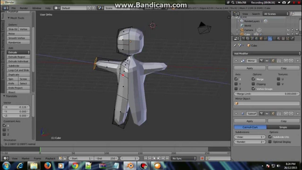 Cara Membuat Karakter 3D Pada Blender 3D - YouTube