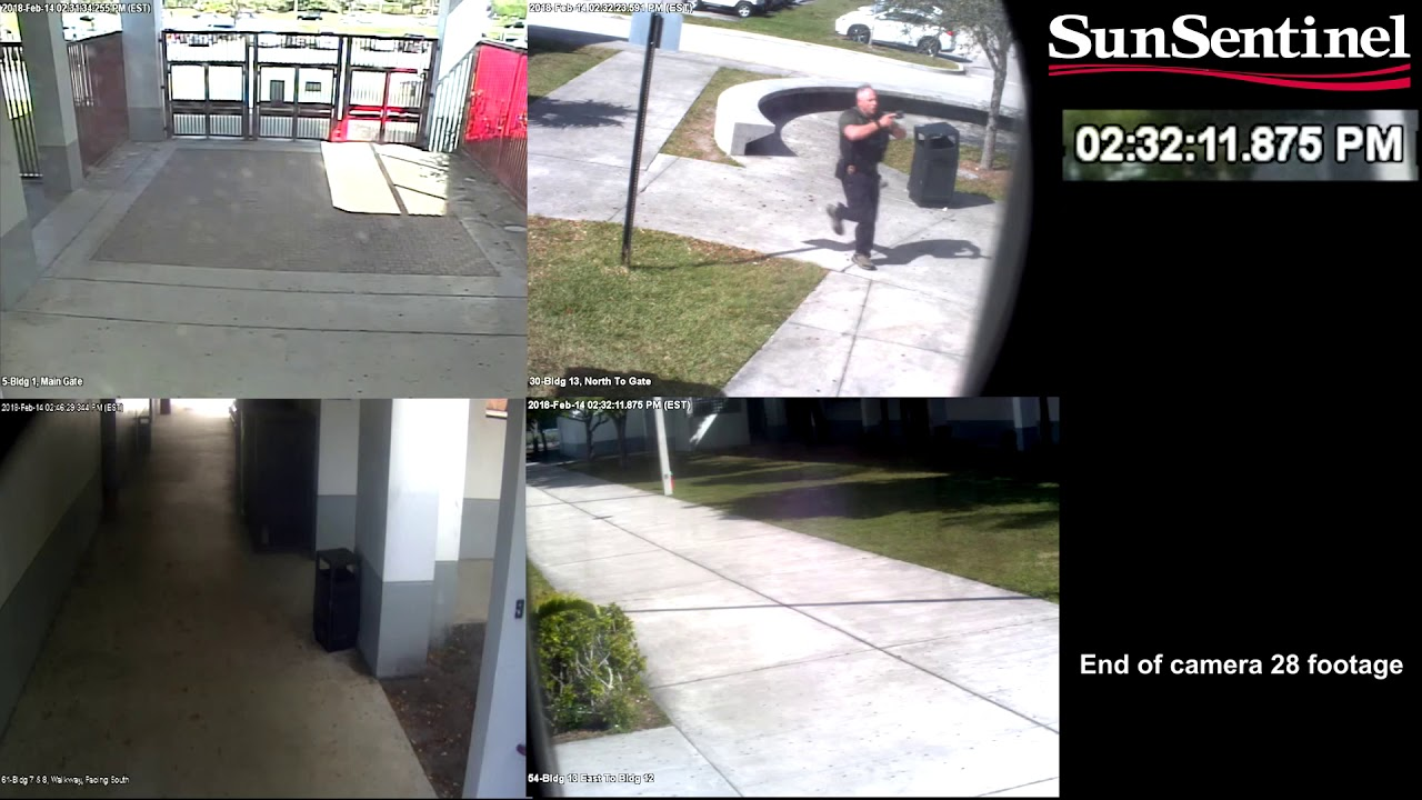 Full video: Surveillance video from outside Marjory Stoneman Douglas on day of shooting