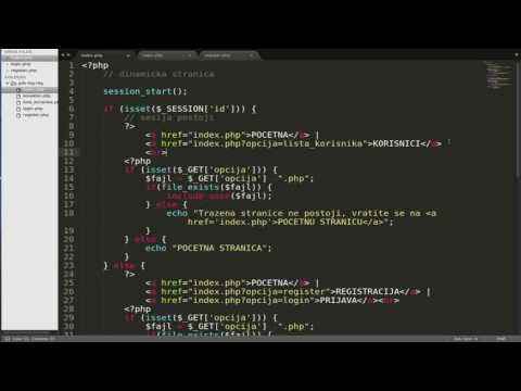 PHP PDO - login register - dinamic page - deo 9.2