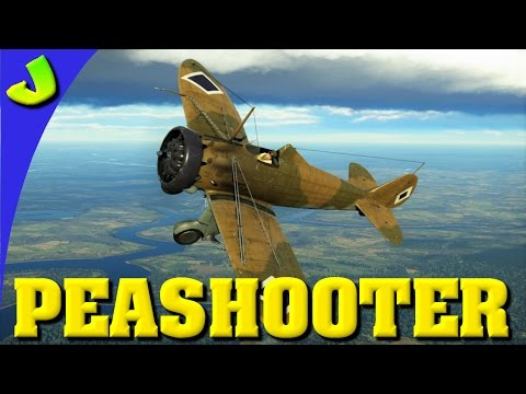 War Thunder-Peashooter P26 A-34 Realistic Premium Gameplay (HD)