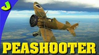 War Thunder-Peashooter P26 A-34 Realistic Premium Gameplay (HD)