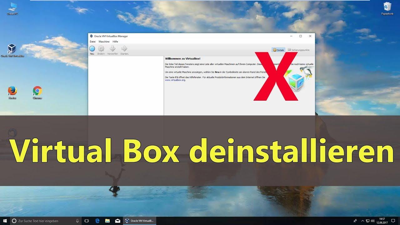 VirtualBox deinstallieren
