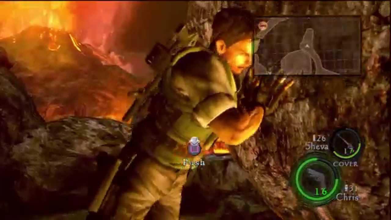 Resident Evil 5 Chris Redfield Vs Boulder Youtube