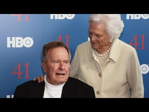 George H.W. Bush, Barbara Bush hospitalized
